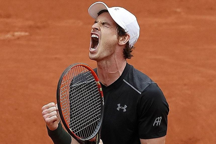 A relieved world No. 2 Andy Murray after overcoming Radek Stepanek in a five-setter at the French Open. However, No. 1 Novak Djokovic and nine-time winner Rafael Nadal both enjoyed straight-sets opening wins.