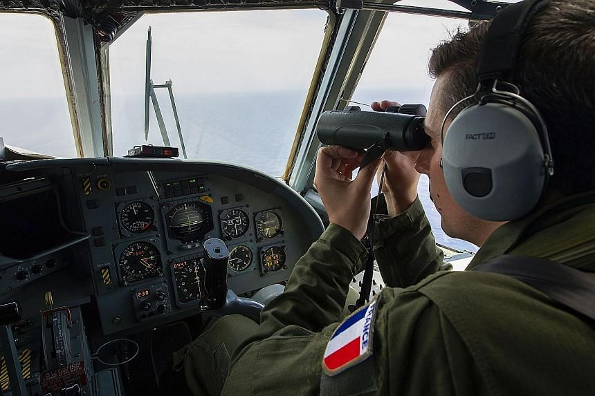 A French soldier searching for debris from the EgyptAir Flight MS804 aircraft over the Mediterranean Sea last week. Egypt has deployed a robot submarine and France has sent a search ship to hunt for the black boxes.