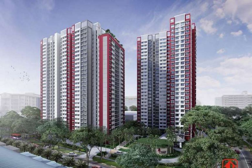 An artist's impression of Ang Mo Kio Court.