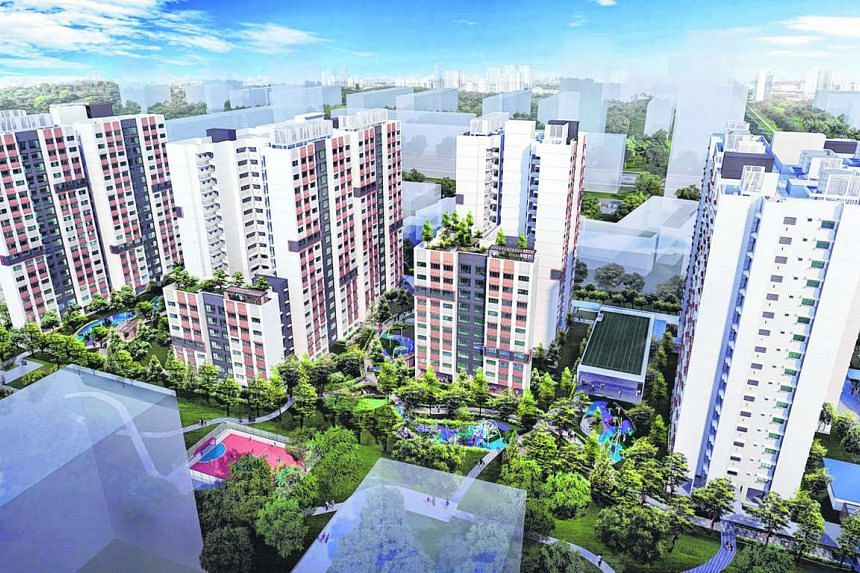 An artist's impression of Bedok North Woods. HDB launched 8,940 flats for sale on Tuesday (May 24).