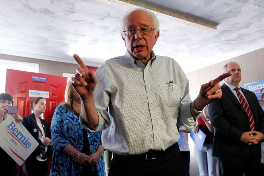 Sanders addresses the crowd during a campaign stop in Kentucky, May 4, 2016.