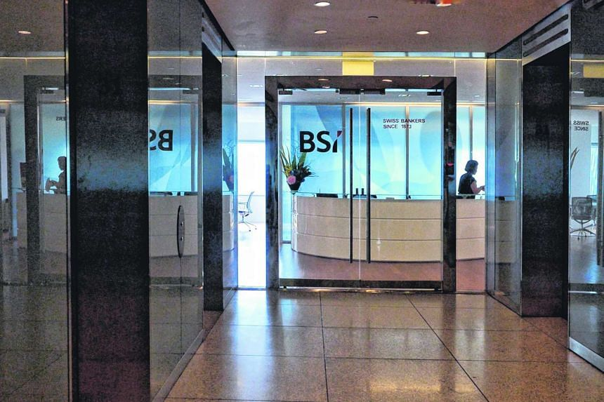 The entrance of the BSI Bank main office at Suntec City Tower One 31st floor.