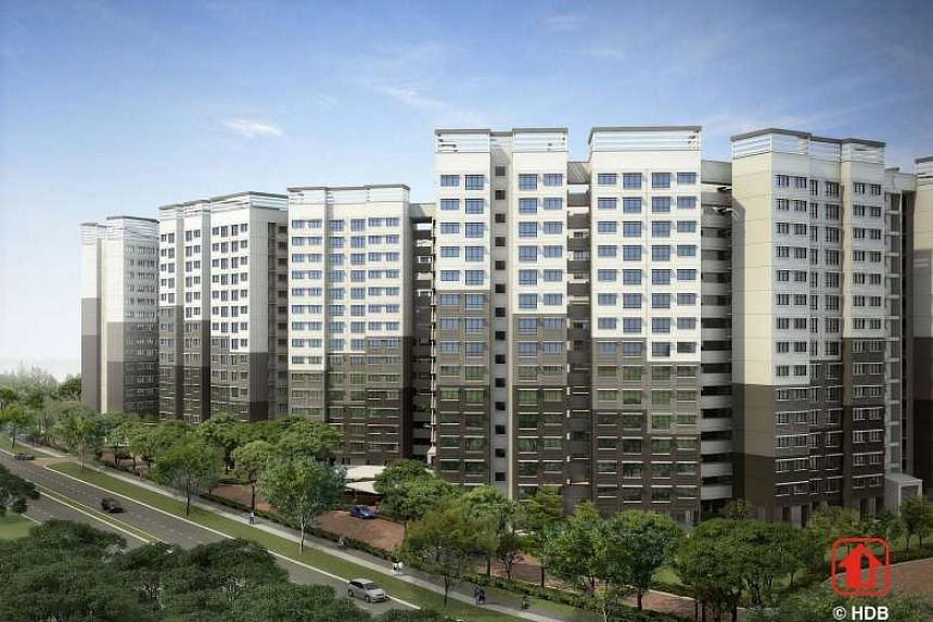 An artist's impression of Sembawang's EastCreek @Canberra.