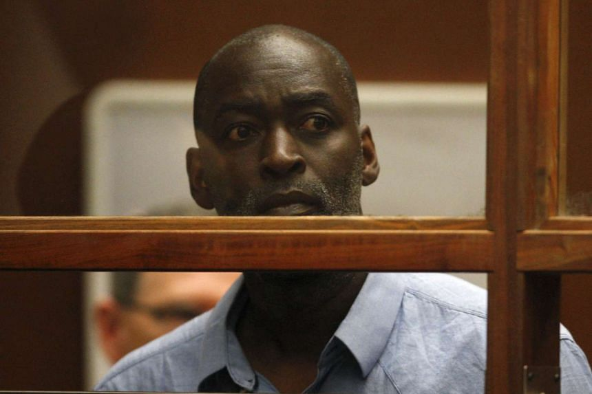 Actor Michael Jace appears at an arraignment hearing for a murder charge at the Los Angeles Superior Court on May 22.
