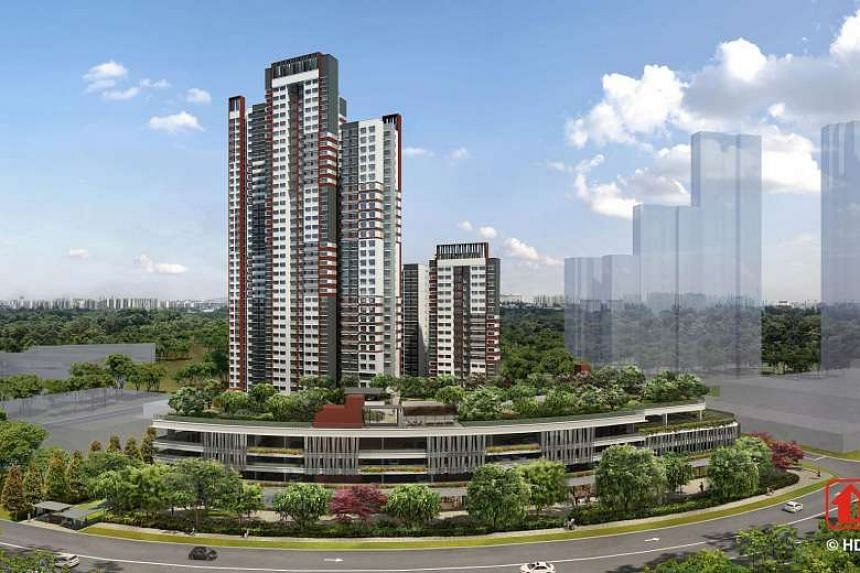 An artist's impression of Bukit Panjang's Senja Heights.