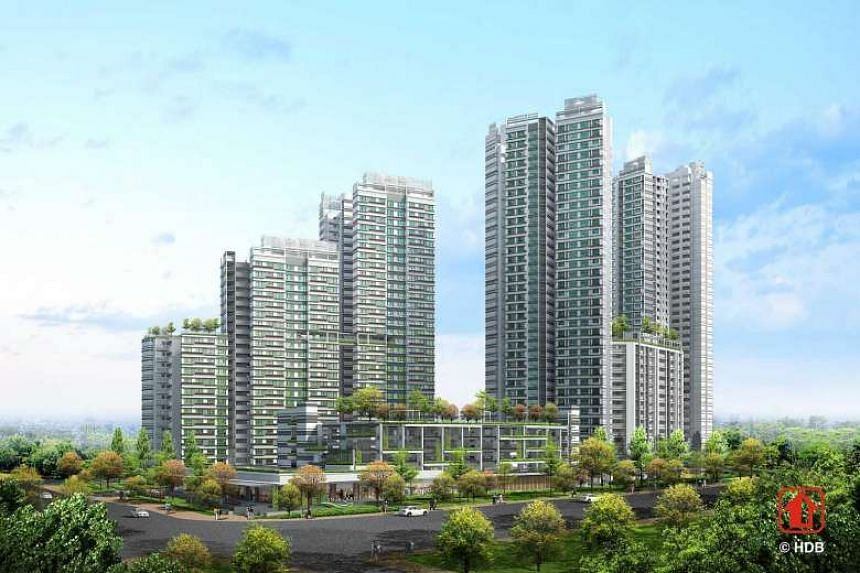 An artist's impression of Bukit Panjang's Senja Valley.