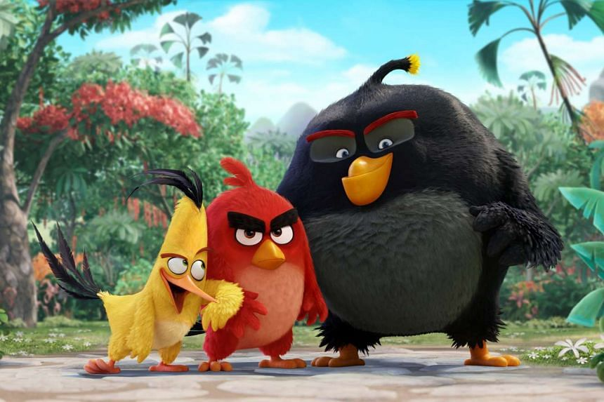 Angry birds (from left) Chuck, Red and Bomb meet at anger management therapy.