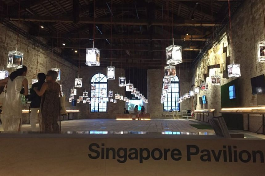 The Singapore Pavillion at 15th Architecture Biennale in Venice on May 26, 2016.