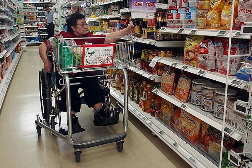 NTUC Health's first nursing home in Jurong West was launched yesterday. The facility offers nursing care to about 200 seniors who use wheelchairs or have dementia. It also houses a care centre for more mobile old folk. FairPrice retail assistant Yue