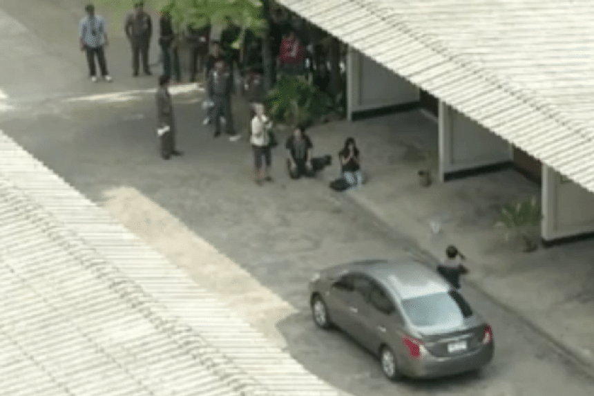 The tense five-hour standoff between police and university lecturer Wanchai Danaitamonut on May 19, 2016 was broadcast live on Facebook and television in Thailand.