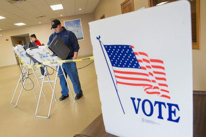 Voters casting their ballots in Fowler, Indiana, on May 3.