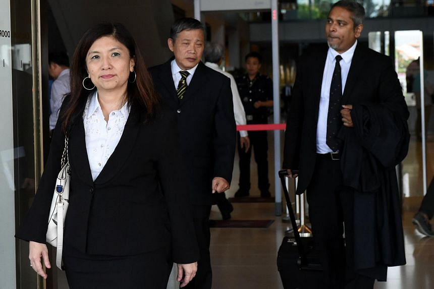 Lawyers Jeannette Chong-Aruldoss (left) and Alfred Dodwell (right) for convicted murderer Jabing Kho leaving the Supreme court on May 20.