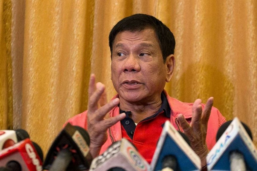 Philippine president-elect Rodrigo Duterte speaks during a press conference in Davao City, in southern island of Mindanao, on May 26, 2016.