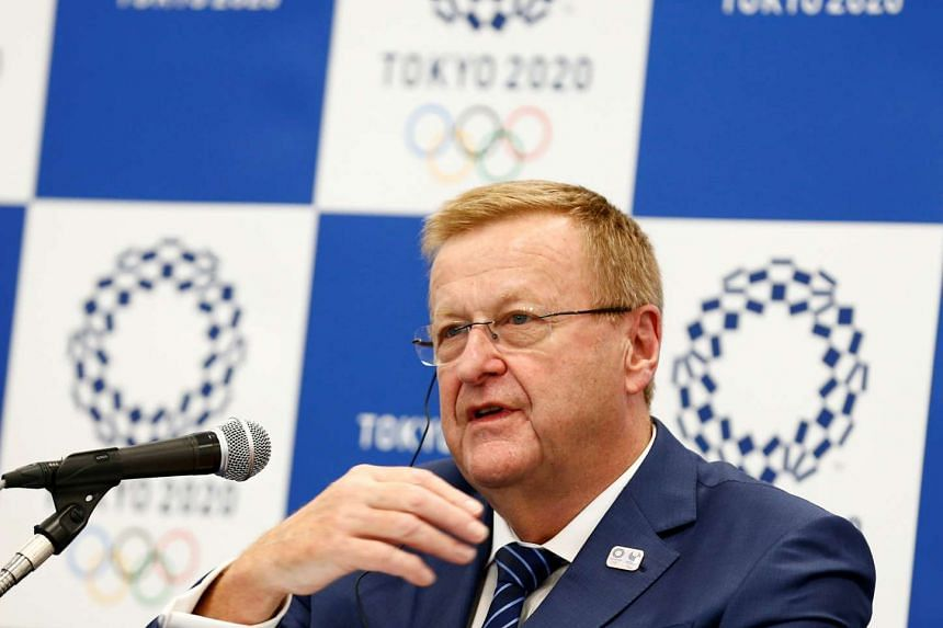 International Olympic Committee (IOC) Chairman of the Coordination Commission for the Tokyo 2020 Games John Coates speaks during a news conference in Tokyo on May 26, 2016.
