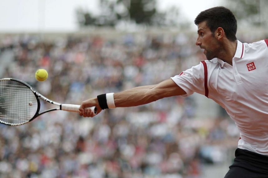 Novak Djokovic (pictured) returns the ball to Steve Darcis at the French Open on May 26, 2016.