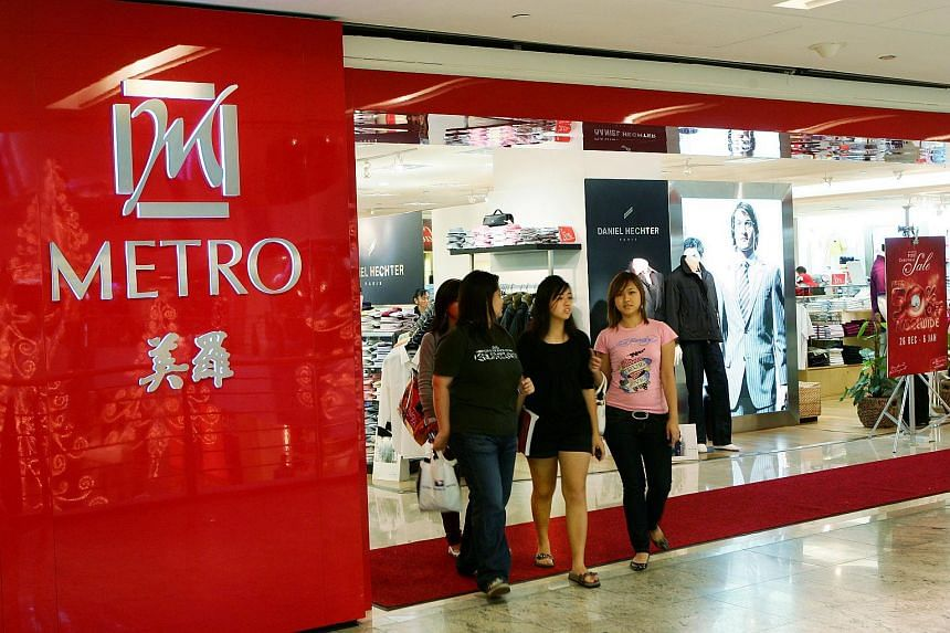 Shoppers outside a Metro departmental store.