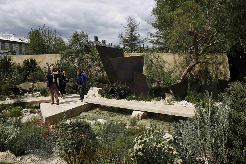 Designer Andy Sturgeon's depiction of a landscape (above) moulded by myriad geological events won Best Show Garden at the Chelsea Flower Show, while Modern Slavery garden, by designer Juliet Sargeant, picked up a gold medal.