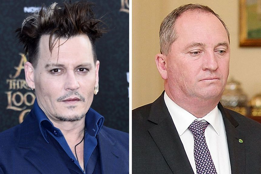 Johnny Depp (left) and Mr Barnaby Joyce.
