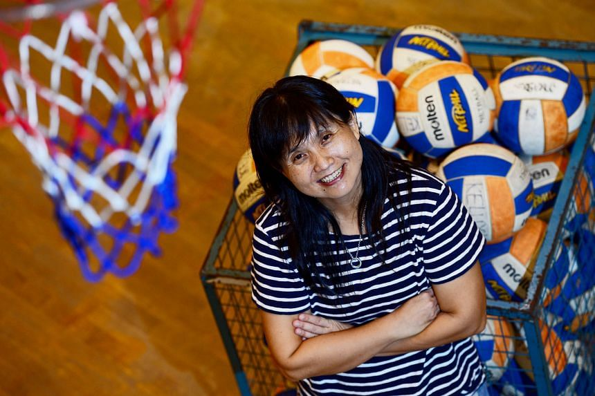Kok Mun Wai, 47, has coached netball for 20 years at CHIJ Secondary (Toa Payoh) and has won 13 C Division and 10 B Division titles. She says the manner in which her players conduct themselves on court is important.