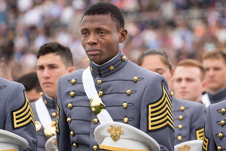 Mr Alix Idrache at his graduation from the elite West Point Military Academy.