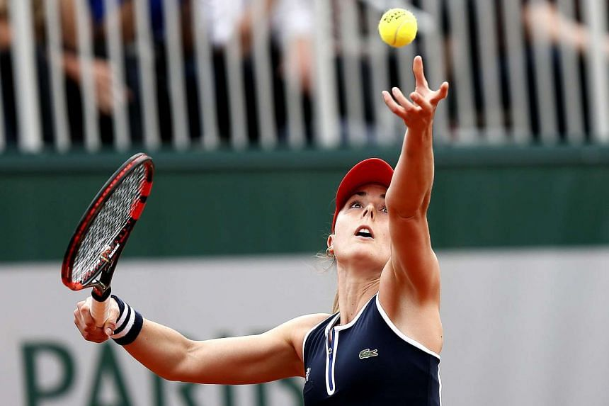 Alize Cornet of France in action at the French Open, on May 26, 2016.