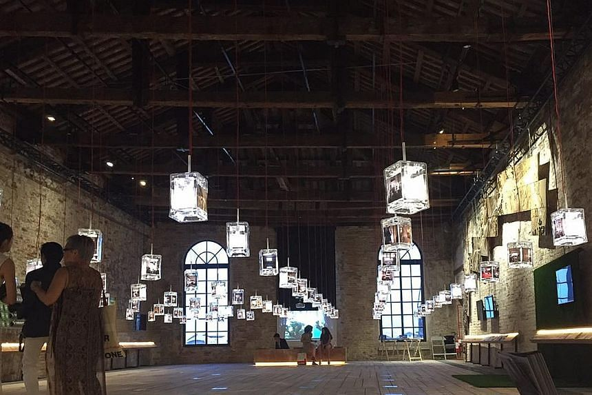 This display of 81 customised glass lanterns is the centrepiece of the Singapore Pavilion at the 15th International Architecture Exhibition (Biennale Architettura 2016) in Venice. President Tony Tan Keng Yam, who is on a state visit to Italy, opened