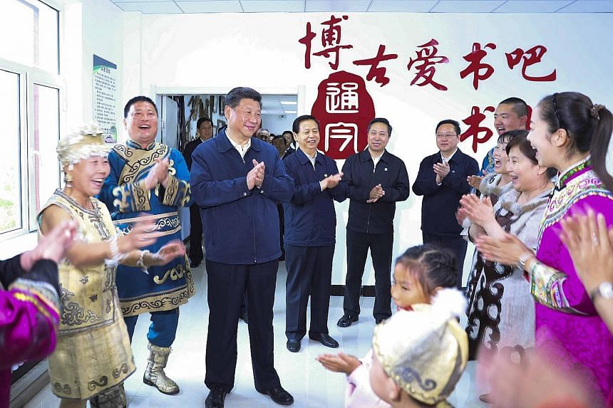 Like the iconic tunic suits of Mao Zedong and Deng Xiaoping before him, President Xi's blue windbreaker seems set to become an iconic political fashion statement as other officials have copied the look. According to official state media, Mr Xi's jack