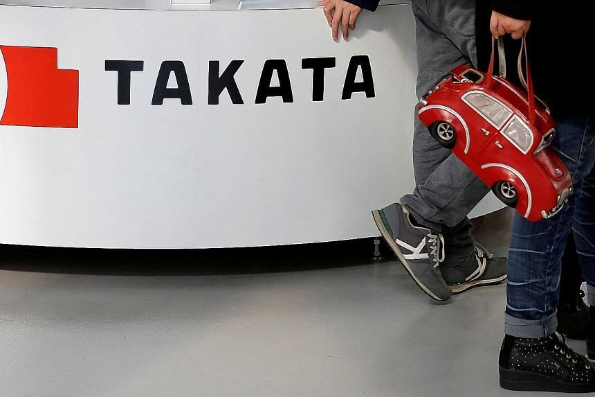 Takata's shares surged by 21 per cent, the daily limit, in Tokyo yesteday after the Nikkei reported that KKR plans to offer support and lead a restructuring effort in place of the founding Takada family.