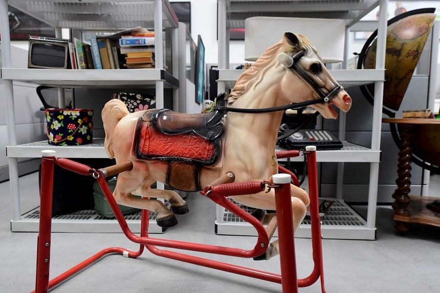 The rocking horse belonging to Joan Harris' son.