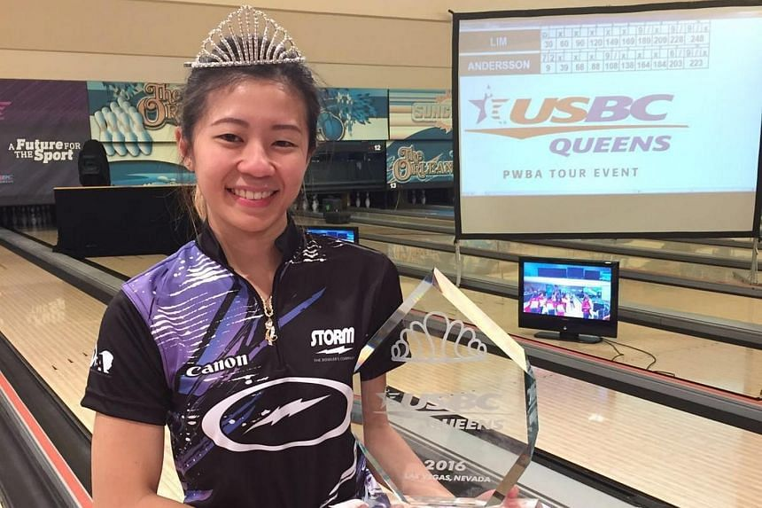 National bowler Bernice Lim on won US$20,000 (S$27,500) - and an apt tiara - for winning the final at The Orleans Bowling Center, which was broadcast live on CBS Sports in the United States on Thursday night (US time).