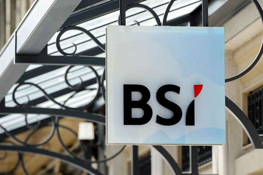 The sign of Swiss bank BSI outside a subsidiary in Geneva.