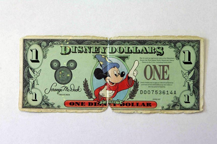 The distinctive bills, each featuring iconic characters and signed by treasurer Scrooge McDuck, have been a legitimate form of money within the Disney universe since they were put into circulation in the 1980s.
