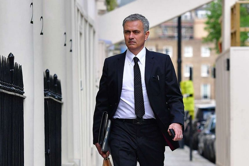 Jose Mourinho arrives back at his home in central London on May 26, 2016.