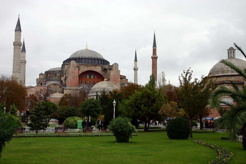 The Hagia Sophia museum in the historical town of Istanbul, Turkey.
