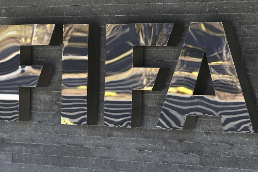 The Fifa logo is seen at the Fifa headquarters in Zurich, Switzerland on March 18, 2016.