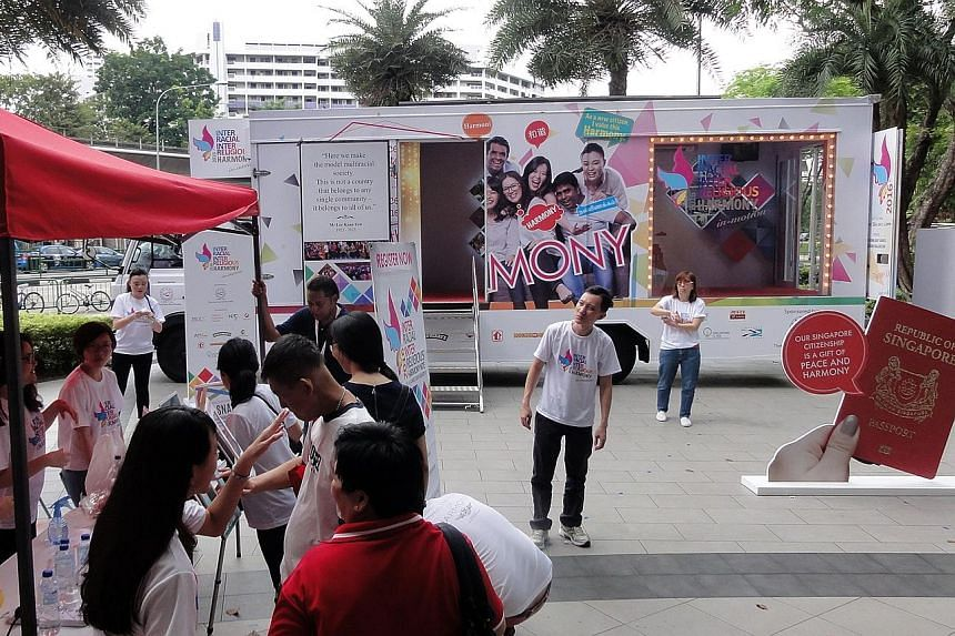 It is called the Harmony Truck, and it is making its way across the island from now to end-July to promote racial and religious harmony. On board are several kiosks, some of which touch on cultures and festivities here. It will be stationed at certai