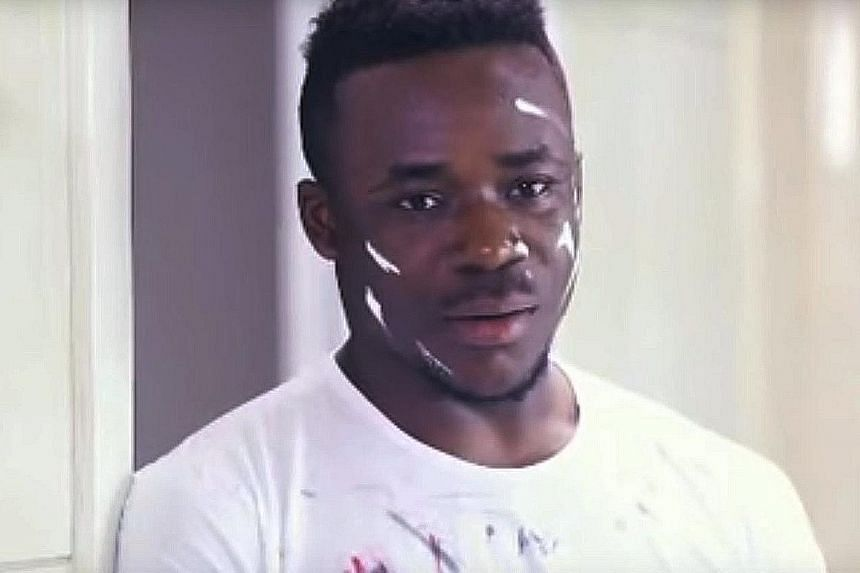 A screen grab of the commercial for the Qiaobi brand of detergent. The advertisement has provoked an uproar on US news websites, which cited it as an example of racist attitudes towards black people in China.