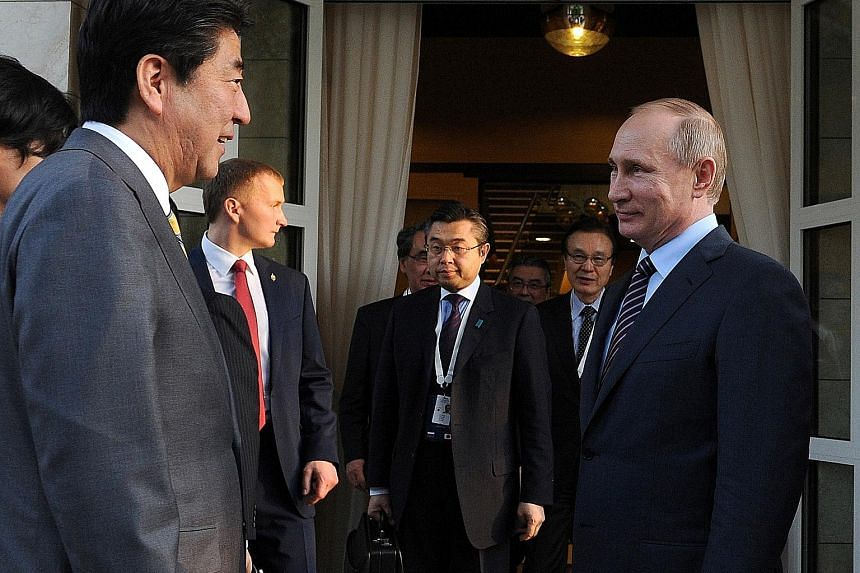 Japanese Prime Minister Shinzo Abe called on Russian President Vladimir Putin at his holiday residence in Sochi earlier this month, with peace negotiations high on the agenda.