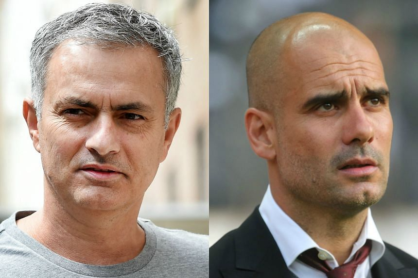 Jose Mourinho (left), officially confirmed as United manager on May 27, and old adversary Pep Guardiola, who is replacing Manuel Pellegrini at City, will renew hostilities in the pre-season International Champions Cup.