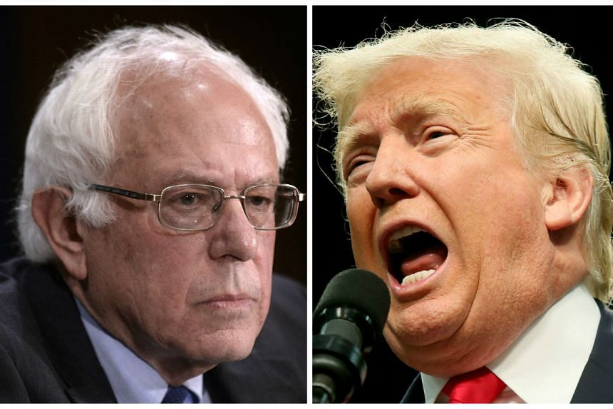 Sanders (left) and Trump prompted widespread anticipation by agreeing to the unusual idea for a debate earlier this week.