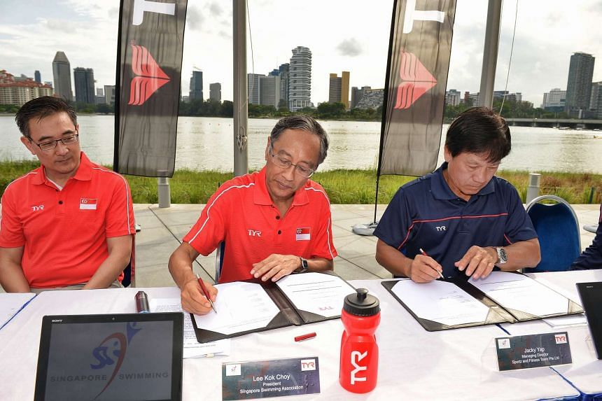The Singapore Swimming Association announced a $1.6 million sponsorship agreement with TYR on May 28, 2016.