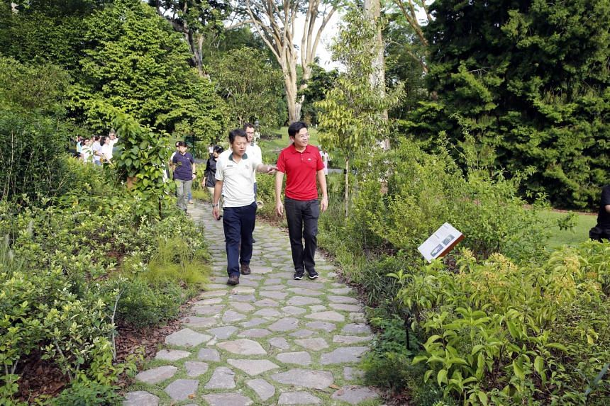 The Heritage Garden was unveiled by Minister for National Development Lawrence Wong on May 28, 2016.