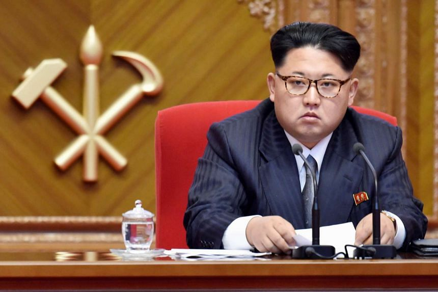 The aunt of North Korean leader Kim Jong Un (pictured) lives anonymously in New York, where she runs a dry-cleaning business.