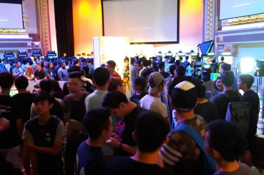 Overwatch fans queued overnight outside Capitol Theatre for the game's launch on May 28, 2016.