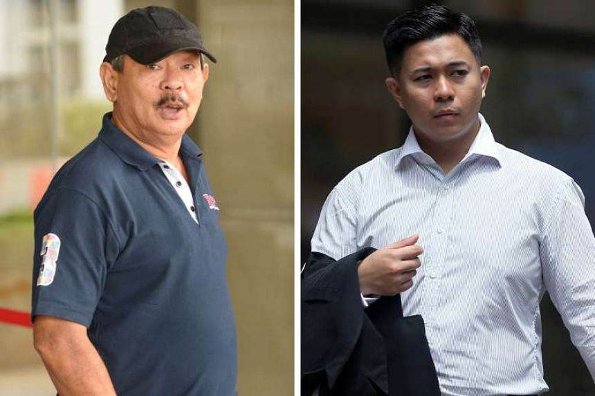 Firman (right) said that on the day of his alleged offences, he found Mr Tung touching himself while the teenage couple were having sex.