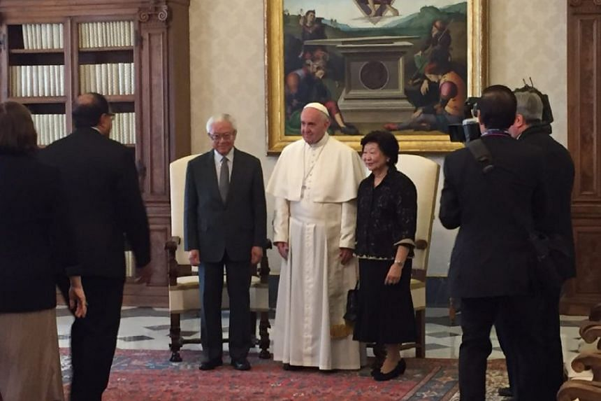 President Tony Tan Keng Yam met Pope Francis on May 28, 2016, in the Vatican City.