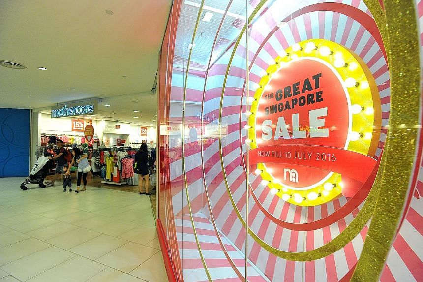 Baby supplies store Mothercare is one retailer that launched its sale before the official start of the Great Singapore Sale.