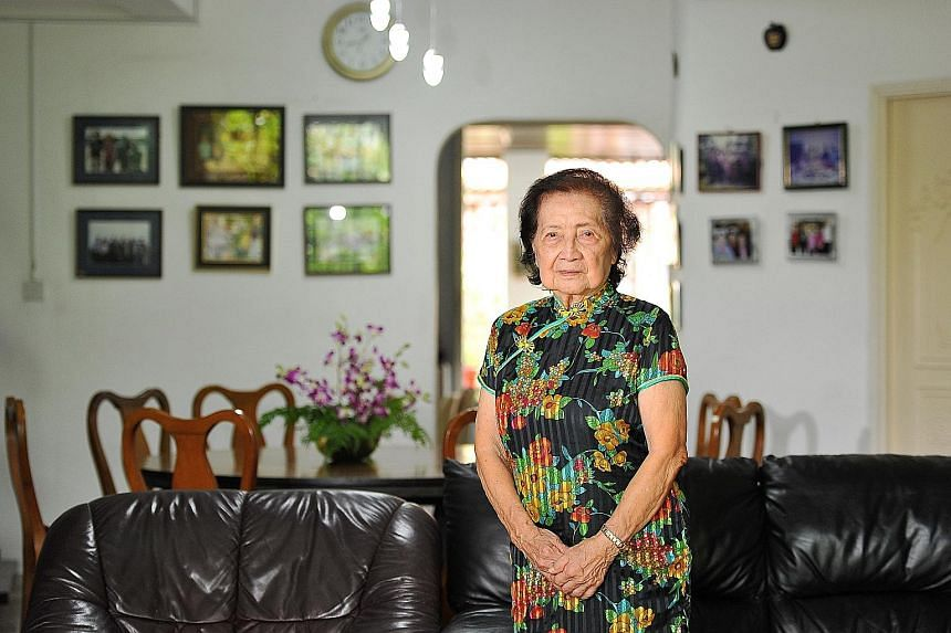 Madam Eunice Tan (top), a cousin of the sisters, said Pearl took piano lessons from Madam Tan's brother-in-law in the 1980s but stopped after a while. Pearl and Ruby Tan are the only known residents of the house (above) where skeletal remains of two