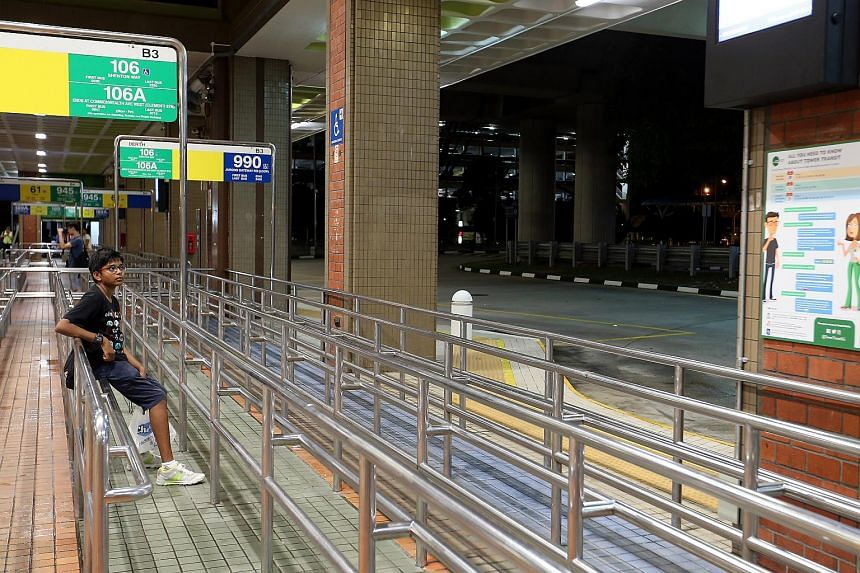 Noah Arul Lim, 13, was the first passenger waiting for the bus at Bukit Batok Interchange.