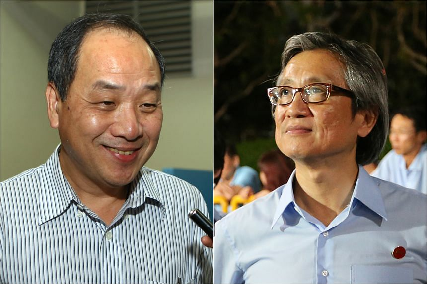 Workers' Party chief Low Thia Khiang (left) went head to head with fellow Aljunied MP Chen Show Mao for the party's secretary-general post.